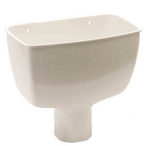 Polypipe Round Standard Hopper Head - 68mm - White