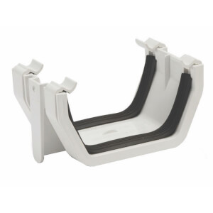 Polypipe Square Gutter Union Bracket - 112mm - White