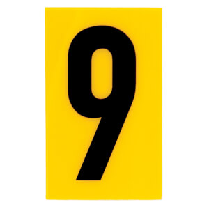 Breeze Yellow Self Adhesive House Number - 60mm - 9