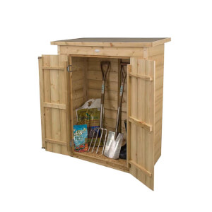 Forest (Installation Included) Wooden Shiplap Pentagonal Garden Store
