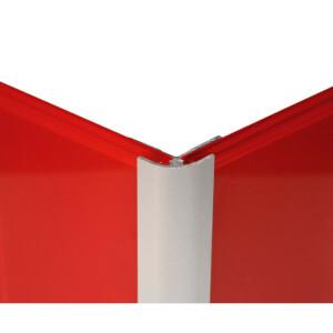 Zenolite Aluminium External Corner -125cm - Matt Silver