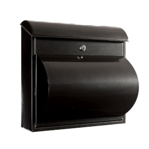 Jupitor Wall Mounted Mailbox - Black