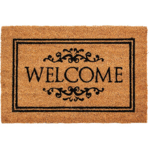 Stencilled Welcome Coir Doormat