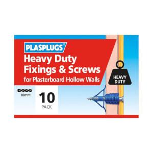 Plasplugs HD Plasterboard & Screws x 10