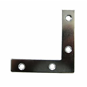 Corner Plate Zinc 50mm - 2 Pack