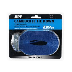 Cambuckle 300kg Tie Down - 6m x 25mm