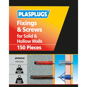 Plasplugs Hollow & Solid Wall Kit 150 mixed pieces