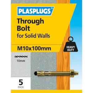Plasplugs Through Bolt M10 x 100