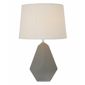 Russel Geometric Ceramic Table Lamp - Grey