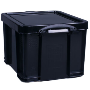 Really Useful Storage Box - Black - 35L