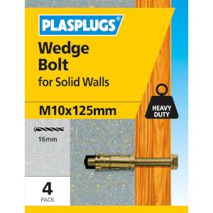 Wedge Bolt M10 X 125mm 4 Pk