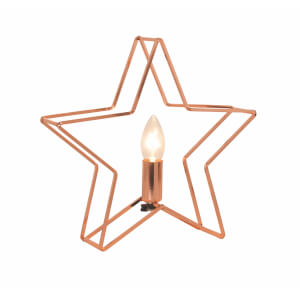 Etoile Metal Table Lamp - Copper