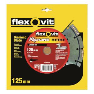 Flexovit Megaline Multi-Purpose Segmented Diamond Blade - 125mm