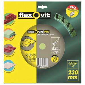 Flexovit PRO Continuous Rim Turbo Diamond Blade - 230mm