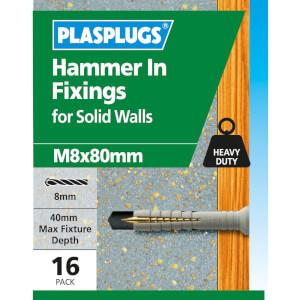 Hammer In Fixings M8 X 80 10 Pk