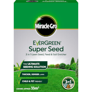 Miracle-Gro EverGreen Super Seed Lawn Seed - 33sq.m