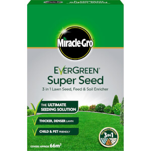 Miracle-Gro EverGreen Super Seed Lawn Seed - 66sq.m