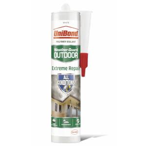 UniBond Outdoor Sealant Extreme Repair Cartridge White 389g