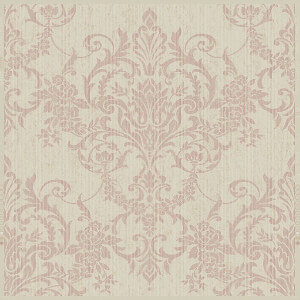 Superfresco Easy Paste the Wall Victorian Damask Wallpaper - Rose Gold