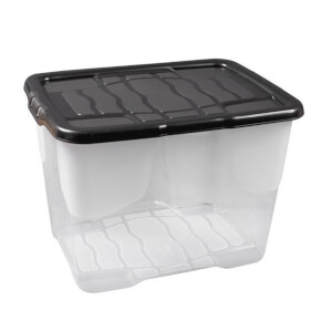 Curve 24L Storage Box with Black Lid
