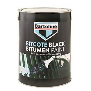 Bartoline Bitcote Black Bitumen Paint - 5L