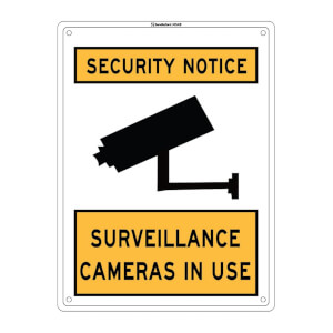 Medium Surveillance Camera Sign - 300 x 225mm