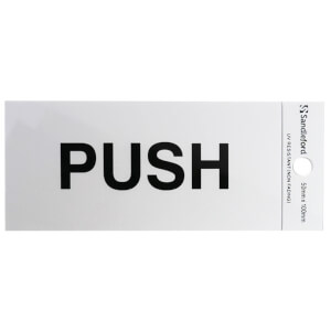 Self Adhesive Push Sign - 100 x 50mm