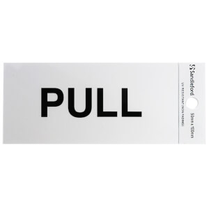 Self Adhesive Pull Sign - 100 x 50mm