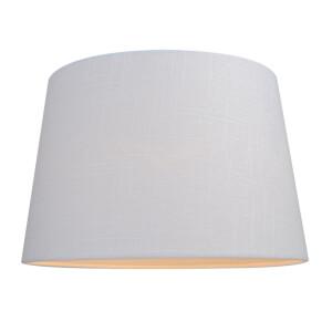 Linen Taper Lamp Shade - White - 30cm