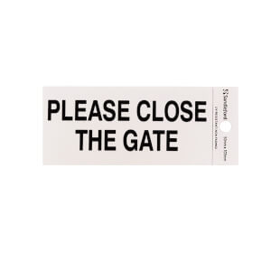 Self Adhesive Please Close The Gate Sign - 100 x 50mm