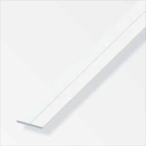 Rothley Flat Bar - White PVC - 15.5 x 2.0 x 1000mm
