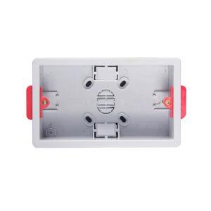 Arlec 2 Gang Dry Lining Box 35mm White