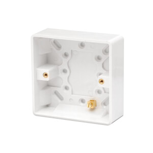 Arlec 1 Gang Pattress Box 35mm White