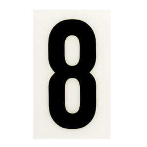 Breeze White Self Adhesive House Number - 60mm - 8