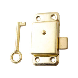 Cupboard Lock - Brass Plated - 64mm