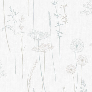 Superfresco Easy Meadow Wallpaper - Duck Egg