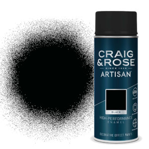 Craig & Rose Artisan Enamel Gloss Spray Paint - Black - 400ml