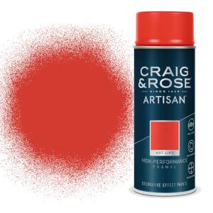 Craig & Rose Artisan Enamel Gloss Spray Paint - Hotlips - 400ml