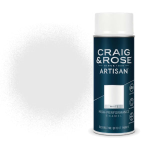 Craig & Rose Artisan Enamel Gloss Spray Paint - White - 400ml