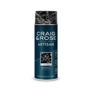 Craig & Rose Artisan Marble Effect Spray Paint - White - 400ml