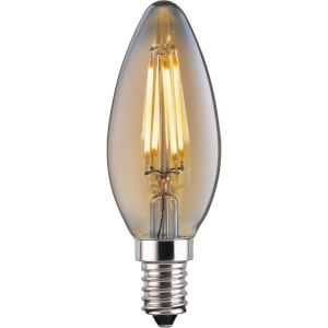 LED Filament Candle 4W E14 Vintage Light Bulb