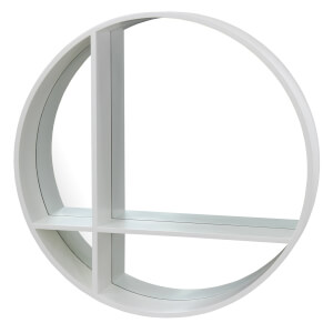 Round Cross Shelf White 29.53x29.53x4