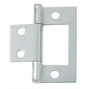 Hafele Flush Hinge - Bright Zinc Plated - 38 x 17mm - 2 Pack