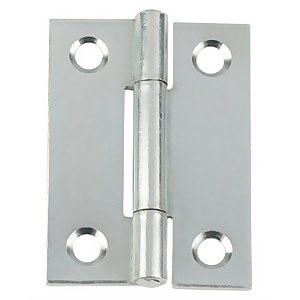 Hafele Butt Hinge - Bright Zinc Plated - 50 x 36mm - 2 Pack