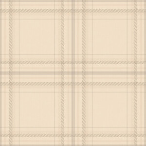 Holden Decor Check Linen Tartan Smooth Beige Wallpaper