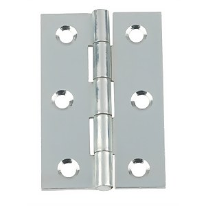Hafele Butt Hinge - Bright Zinc Plated - 75 x 49mm - 2 Pack