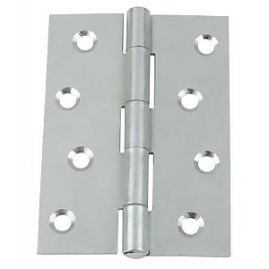Hafele Butt Hinge - Bright Zinc Plated - 100 x 71mm - 10 Pack