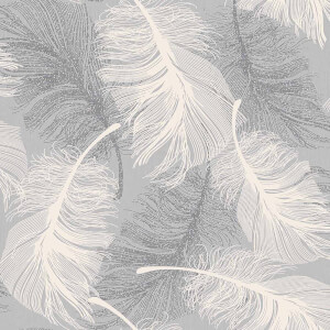 Superfresco Feather Dappled Grey Wallpaper