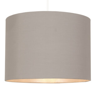 Clark Lamp Shade - Grey with Silver Inner - 30cm