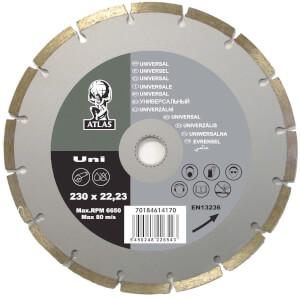 Atlas Uni Diamond Cutting Blade - 230 x 22.23mm